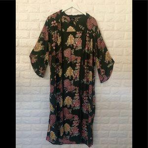 Angie Sz L floral Duster/Kimono